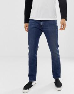 Суженные книзу джинсы слим цвета индиго Wrangler larston - Синий