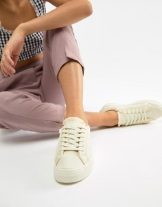 Кроссовки на шнуровке Glamorous - Розовый