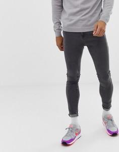 Серые джинсы скинни Bershka - Серый