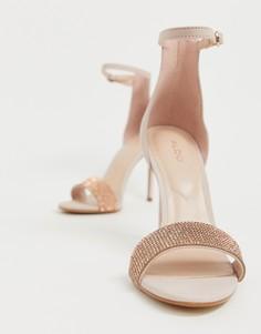 Кожаные босоножки на каблуке Aldo - Розовый