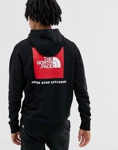 Худи черного цвета с рукавами реглан The North Face - Черный
