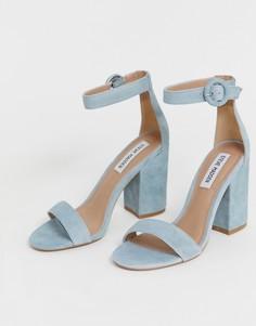 Замшевые босоножки на блочном каблуке Steve Madden - Синий
