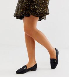 Черные туфли на плоской подошве для широкой стопы ASOS DESIGN - Черный
