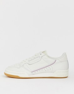 Бело-сиреневые кроссовки adidas Originals Continental 80 - Белый