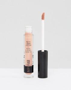 Матовая жидкая губная помада NIP+FAB Make Up - Розовый
