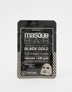 Маска-салфетка металлик с активированным углем и частицами 24-каратного золота MasqueBAR Black Gold - Бесцветный