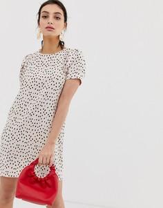 Свободное платье с монохромным принтом River Island - Красный