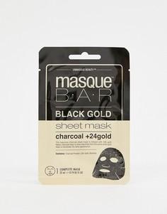 Маска-салфетка с активированным углем и частицами 24-каратного золота MasqueBAR Black Gold - Бесцветный