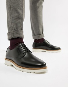 Черные блестящие туфли на толстой подошве со шнуровкой Ben Sherman - Черный