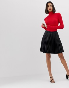 Черная плиссированная мини-юбка Morgan - Черный