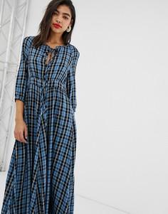 Платье макси в клетку Max & Co - Мульти