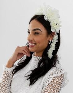 Белое украшение для волос с цветами ASOS DESIGN - Белый