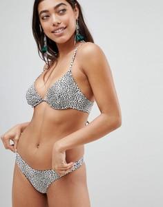Купальник бикини с леопардовым принтом Pistol Panties - Бежевый