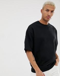 Черный oversize-свитшот с короткими рукавами ASOS DESIGN - Черный