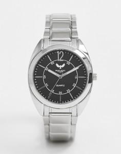 Мужские наручные часы с черным циферблатом Brave Soul - Серебряный