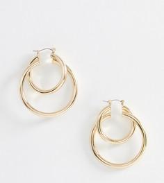 Золотистые двойные серьги-кольца ALDO Graonna - Золотой