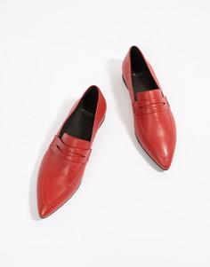 Кожаные лоферы с заостренным носком Vagabond Katlin Sister - Красный