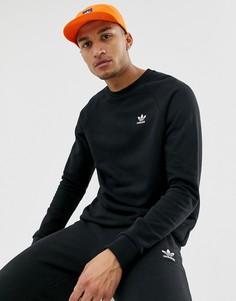 Черный свитшот с логотипом Adidas Originals Essentials DV1600 - Черный