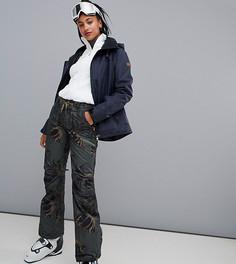 Черные горнолыжные брюки с принтом Roxy Nadia - Черный
