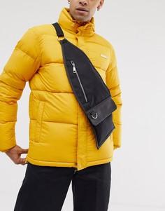 Черная сумка через плечо с карманом на молнии ASOS DESIGN - Черный