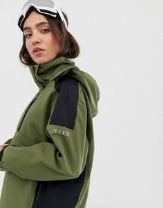 Куртка для сноубординга с герметичными швами ASOS 4505 ski minimal - Зеленый