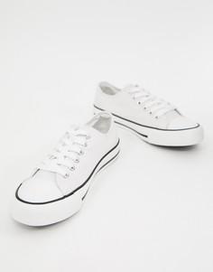 Парусиновые кроссовки на шнуровке XTI - Белый