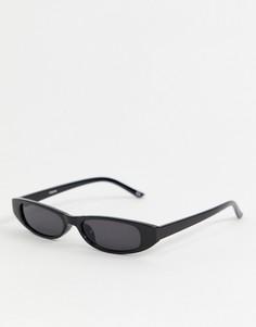 Черные узкие овальные солнцезащитные очки Reclaimed Vintage Inspired эксклюзивно для ASOS - Черный