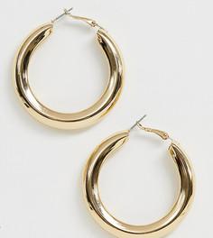 Золотистые массивные серьги-кольца Liars & Lovers - Золотой