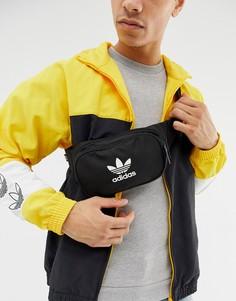Черная сумка-кошелек на пояс adidas Originals - Черный