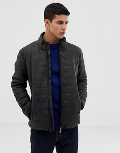 Темно-серая дутая куртка из искусственной кожи Esprit - Серый