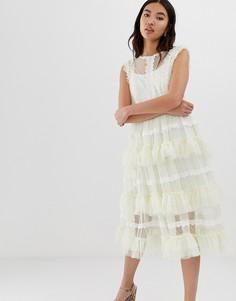 Кружевное платье с ярусными оборками Amy Lynn - Мульти