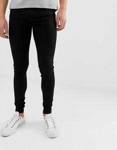 Черные джинсы скинни с напылением Jack & Jones - Черный