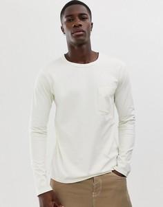 Лонгслив с заниженной линией плеч Selected Homme - Серый