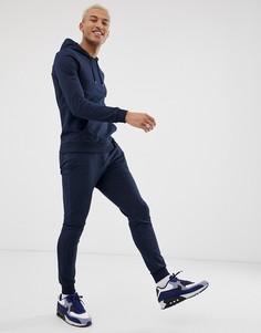 Темно-синий обтягивающий спортивный костюм (худи/джоггеры) ASOS DESIGN - Темно-синий