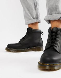 Черные ботинки с 6 парами люверсов Dr Martens 939 - Черный
