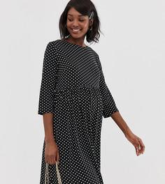 Короткое приталенное платье в горошек Glamorous Bloom - Черный