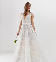 Эксклюзивное свадебное платье с декоративной отделкой Bronx & Banco - Розовый