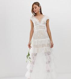 Эксклюзивное ярусное свадебное платье Bronx & Banco - Белый