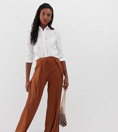 Широкие атласные брюки Glamorous Tall - Коричневый