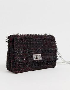 Черная сумка на плечо с цепочкой New Look - Черный