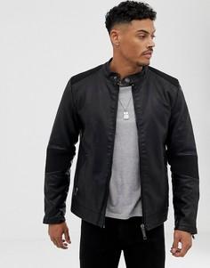 Черная куртка из искусственной кожи Blend - Черный