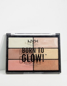 Палитра хайлайтеров NYX Professional Makeup Born To Glow - Мульти