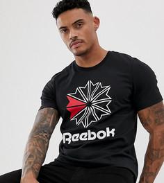 Черная футболка с принтом Reebok - Черный