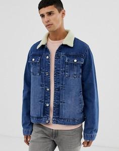 Синяя джинсовая куртка Another Influence - Синий