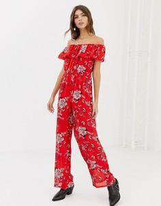 Комбинезон с цветочным принтом Glamorous - Красный