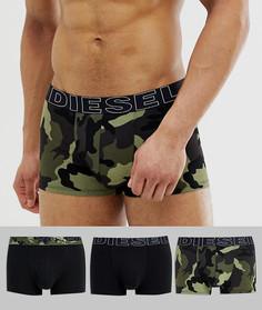 Набор из 3 боксеров-брифов с камуфляжным принтом и логотипом Diesel - Мульти