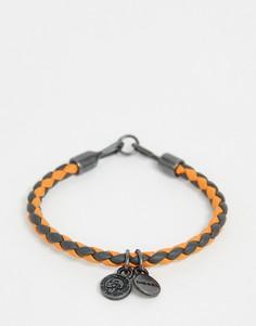 Оранжевый браслет с подвесками Diesel - Оранжевый