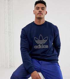 Темно-синий свитшот с логотипом adidas Originals - Темно-синий