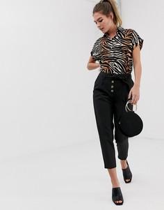 Черные зауженные брюки New Look - Черный
