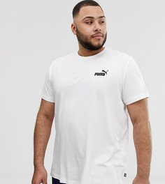 Белая футболка с логотипом Puma Plus Essentials - Белый